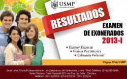 Resultados Examen USMP 2013-1